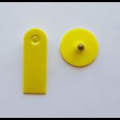Бирка ушная для крс двойная  50*18мм (без номера)