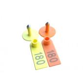 Бирка ушная для крс двойная  50*18мм (с номером)