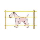 Электропастух для Собак на 60*60м  для дерева колышек комплект 3 ряда