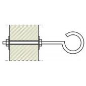 Изолятор с болтом для крепления к металлическим конструкциям