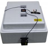 Инкубатор Несушка 104 220/12В арт64вг, авто переворот для яиц, 1 решётка, цифр.терморег, изм.влажности, вентилятор